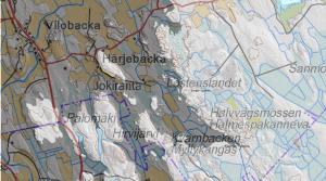 Merenranta noin 2500 eKr. Maanmittauslaitoksen kartta kertoo sijainnin nykyään.